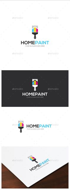 Home Paint Logo - Objects Logo Templates Download here : http://graphicriver.net/item/home-paint-logo/15775145?s_rank=136&ref=Al-fatih