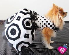 Black and White Polka Dot Dress Geometric Polka by OrostaniCouture, $279.00