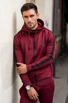 GYM KING Poly Tracksuit Top - Cordovan £44.99