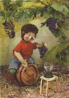 Igel-Mecki mit Wein