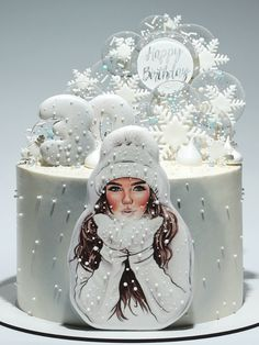 Cake Decorating Frosting, Cake Decorating Designs, Creative Cake Decorating, Cake Decorating Videos, Cake Decorating Techniques, Sweet 16 Birthday Cake, Elegant Birthday Cakes, Beautiful Birthday Cakes, Cake Designs For Girl