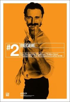 '#2 Begbie' - My favourite of the character-focused, Trainspotting promotion....K
