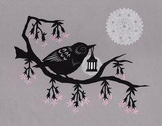 Lamplit soir 8 X 10 pouces Cut Paper Art Print par ruralpearl