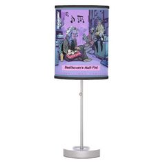Beethoven's Half Pint Comic Table Lamp - funny comic style comics geek geeks lol fun cyo