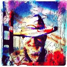 """Portrait of the Artist as Degenerate""--dedicated to the brave artists like Emil Nolde who continued to create in the 1930's despite Nazi ridicule and persecution. #modernart, #digitalart, #iphoneography, #abstractart, #waterlogue, #picshop, #expressionis"