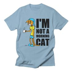 I'm Not A Morning Cat Men's T-shirt by I Heart Patitas Artist Shop
