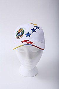 a947f5f413e Amazon.com   YOREVOCO VIVA VENEZUELA Gorra Blanca De Venezuela 7 Estrellas  Tricolor New White Venezuela Hat with 7 Stars Tricolor Flag.  Sports    Outdoors