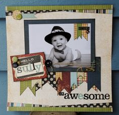 I'm Awesome (by livvysmom) - Cute overlapping banners in various prints.  I also like the slight diagonal at the top and bottom.