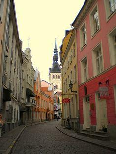 Rataskaevu Street - Tallin, Estonia  This is a great walking town.. cobbled streets, cafes, markets, shops.