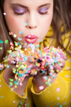 How to take the perfect confetti photo!  #DIY