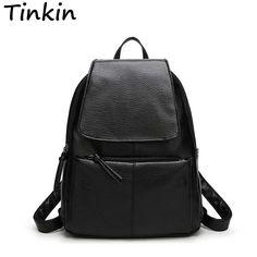 Backpacks  Tinkin Most Cost-effective Backpack New Arrival Vintage Women Shoulder Bag Girls Fashion Schoolbag High Quality Women Bag -- Ceci est une broche d'affiliation AliExpress.  Afficher l'élément dans les détails en cliquant sur l'image