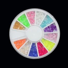 Kaifina 12-Color Half Round Pearl Nail Art Arcylic Decorations >>> More info could be found at the image url.