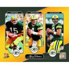 Photofile PFSAAQN13201 Bart Starr Brett Favre & Aaron Rodgers Legacy Collection Sports Photo - 10 x 8, As Shown