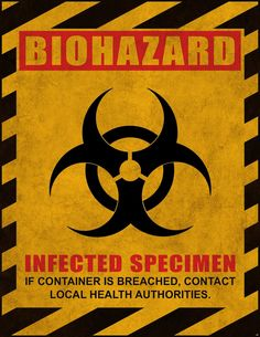 FREE printable Bio-hazard Sign. Free to use and free to share for personal use only. <3