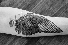arm tattooed as birdwing - Google Search