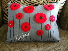 Easy red flower pillow