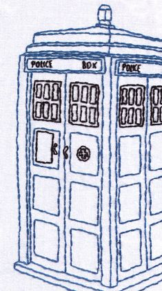 Tardis Hand Embroidery Pattern ($8 on Etsy)