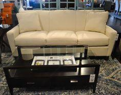 white sofa + dark wood table = classic combination www.lifestylescomo.com