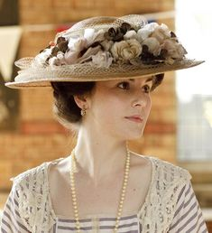 Enchanted Serenity of Period Films: Downton Abbey - A Milliner's Dream? Downton Abbey, Historical Costume, Historical Clothing, Lady Mary Crawley, Tea Hats, Victorian Gown, Edwardian Dress, Edwardian Fashion, Hats For Women