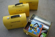 Custom lunch boxes for construction party
