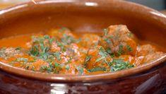 Spanske kjøttboller – albondigas Spaghetti Bolognese, Frisk, Chorizo, Hummus, Nom Nom, Curry, Food And Drink, Homemade