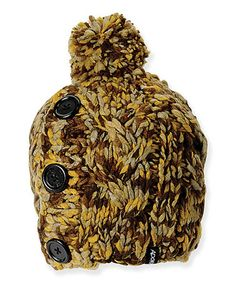 Take a look at this Olive Button Pom-Pom Beanie by ADORA on #zulily today!
