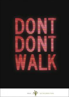 "Emily Oberman's ""Don't Don't Walk"" Poster"