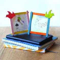 Very sweet and easy for little hands with assistance.  DIY Frame for Father's Day
