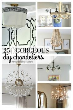 How to make a homemade chandelier from scratch 25 different diy 25 gorgeous diy chandeliers via remodelaholic mozeypictures Image collections