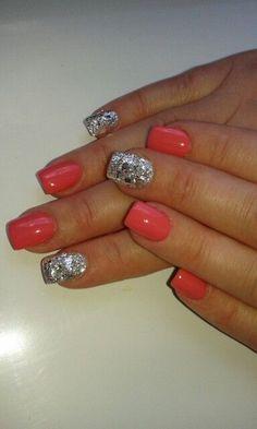 Sparkling uv gel nails...