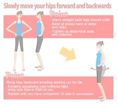 inner muscle strengthening hip movements (forward-backward)