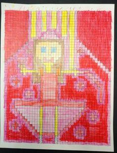 Thomas Elementary Art: 8-Bit Self Portraits by 4th Grade