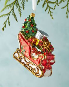Sleigh+Christmas+Ornament+at+Neiman+Marcus.