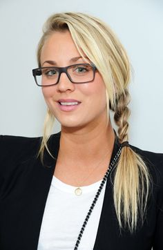 Pin for Later: 69 Celebs With Serious Specs Appeal Kaley Cuoco