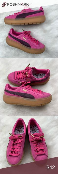 magenta lila Puma Schuhe The Key Wn's weiß Kleidung
