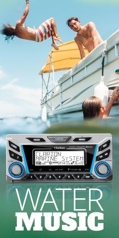 With its aggressive styling, cutting-edge tech, and marine-rated toughness, Clarion's M606 digital media receiver is a great way to add performance, style, and functionality to your boat. This powerful, versatile receiver gives you outstanding sound quality, plus the security of IP55-certified water resistance.