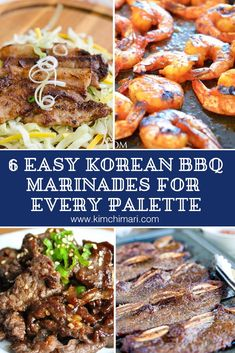 Here are my favorite Korean BBQ marinade recipes, from beef kalbis to fusion tacos! #taco #kalbi #marinade #bbq   #kimchimari #koreanfood #koreanrecipes