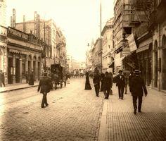 Início século passado (1900) - Rua 15 de Novembro na região da Sé.