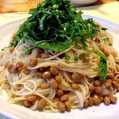 サラダ油は万病の元。レシピはDE-OILブログをご覧下さい。 http://deoil.blog.fc2.com/ - 4件のもぐもぐ - イカ納豆カッペリーニ by deoil518