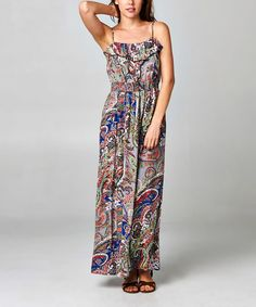 2cafce6751 Another great find on  zulily! Christine V Regal Blue  amp  Gray Paisley  Maxi