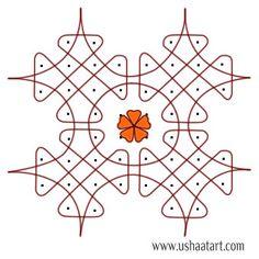 Kambi Kolam by step design Rangoli Designs Flower, Rangoli Border Designs, Rangoli Designs With Dots, Rangoli Designs Diwali, Kolam Rangoli, Rangoli With Dots, Beautiful Rangoli Designs, Rangoli Borders, Rangoli Patterns