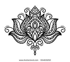 Image result for paisley lotus tattoo