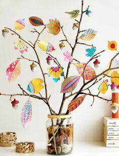 kreative herbstdeko mit farbe