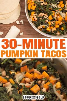 If you read many of my posts then you know I LOVE Mexican food. If I could live off of any single type of cuisine for the rest of my life – it would undoubtedly be Mexican. As a result, many foods that probably shouldn't be made into tacos become tacos in our household. These pumpkin tacos a perfect example of that. | @foodabovegold #fallrecipes #pumpkintacos #falltacorecipes #quickfamilyfalldinner #mexicanfood #fallmexicanrecipes