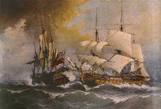 Combate de una fragata española con el navío británico Stanhope