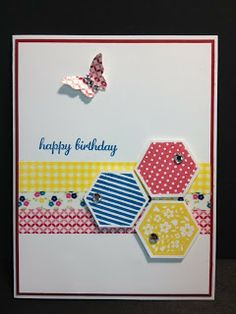 Six Sided Sampler Birthday Card Washi Tape Stampin' Up! Rubber Stamping Handmade Cards
