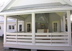 idea for a back porch - add a door and screens though.  Mosquitos are horrible in Virginia.