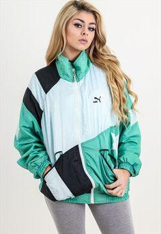 4976ef8303a Vintage+Puma+Shell+Jacket Womens Windbreaker