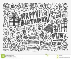 Doodle Birthday Party Background - Download From Over 36 Million High Quality Stock Photos, Images, Vectors. Sign up for FREE today. Image: 40894997