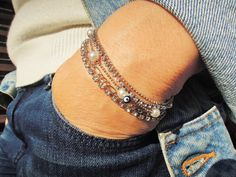 Beaded bracelet, Jewelry , bridesmaid gift , Multi-strand friendship bracelet, Wedding Jewelry, wedding  bracelets , charm jewelry for her by ebrukjewelry on Etsy